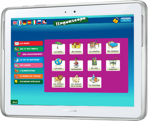 Screenshot of the Linguascope Beginners app